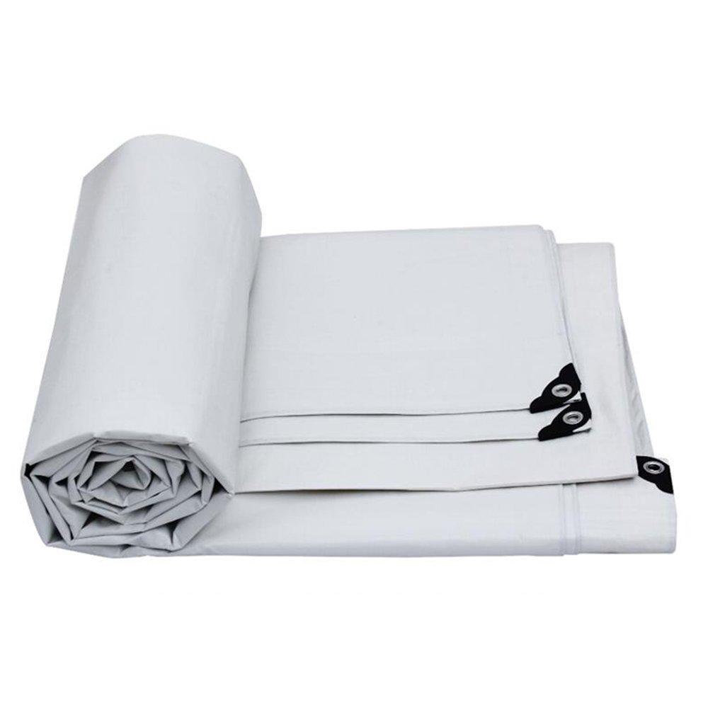 YNN 防水日除け車防塵農業工業用アプリケーション高温、白色、厚さ0.32MM 175g/m²、8サイズ 防水シート (色 : 白, サイズ さいず : 7 * 5m) B07FNPK6JX 7*5m|白 白 7*5m