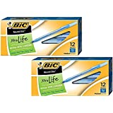 BIC Round Stic Xtra Life Ball Pen, Medium Point (1.0 mm), Blue, 24-Count