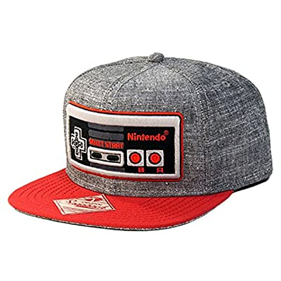 Nintendo Controller - Snapback Hat, Gray and Red, One Size from Bioworld