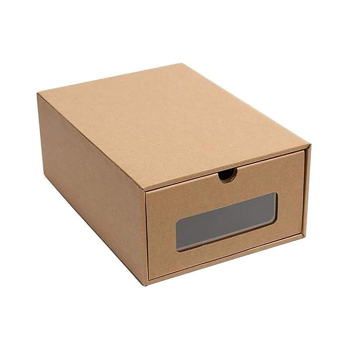 Organizador de zapatos de cartón grueso de Baffect, cajas y contenedores para el almacenamiento del hogar, transparente, For plain shoes: Amazon.es: Hogar