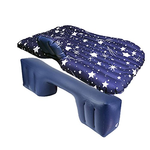 R&R Car Travel Inflatable Mattress Air Bed Cushion Camping Universal SUV Extended Air Couch by POTA