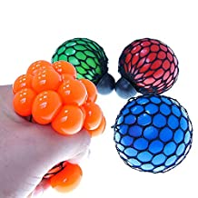 WEKA Mesh Rubber Hand Toy Grape Squeezing Ball For Decompression Vent Random color