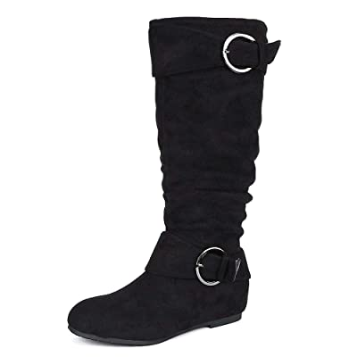 DREAM PAIRS Women's Knee High Wedge Heel Boots | Knee-High