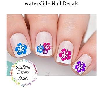 Amazon Hawaiian Flower Set 1 Hibiscus Flower Nail Art Decals
