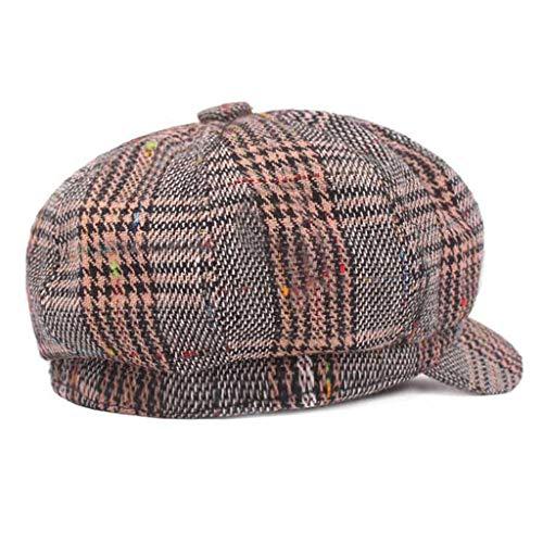 47b46653 FEDULK Unisex Newsboy Gatsby Classic Retro Cap Golf Cabbie Driving Women  Men Beret Hat(D