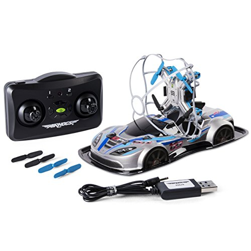 Air Hogs - 2-in-1 Drone Power Racers for Driving and Flying - Sports Car - Blue -