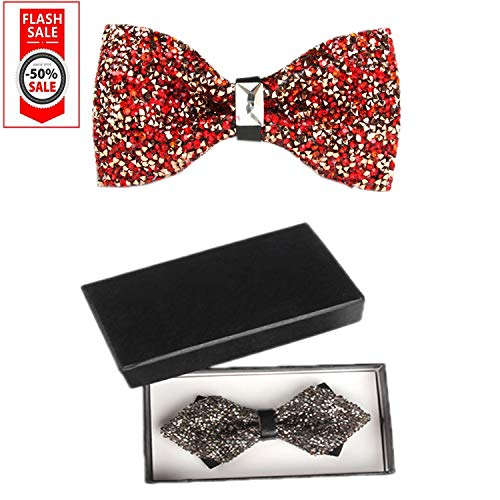 Red Black Party Men's necktie cyastal bow amp;E bowtie S ties for Wedding Set Oawq7cP