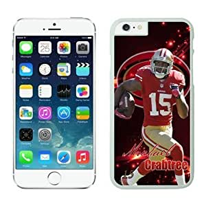 NFL Iphone 5/5S an Francisco 49ers Michael Crabtree White Case Cover For SamSung Galaxy S4 Cell Phone Case ONXTWKHC3890