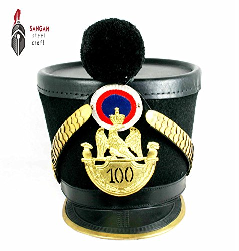 Sangamsteelcraft Chaco Pickelhaube Chapka shako France Infantry Larp Napoleon SCA by Sangamsteelcraft