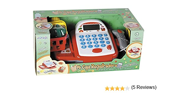 IMITOYS Caja Registradora con Calculadora, Escáner, Luces, Sonido ...
