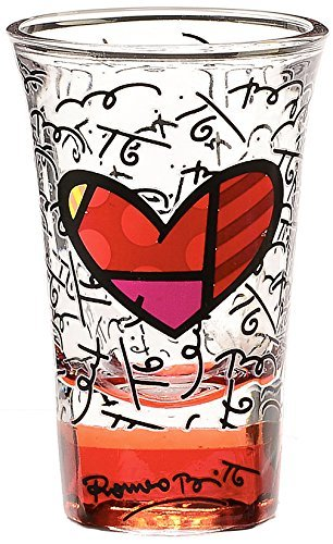 lass - Red Base, Graphic Pattern with Hearts Design ()