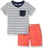 Nautica Sets (KHQ) Boys Short Sleeves T-Shirt Shorts Set