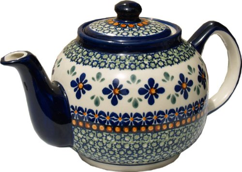 polish pottery teapot with warmer - 4