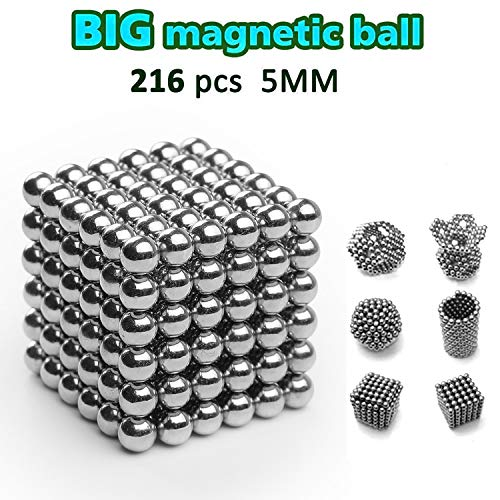 DOTSOG 2019 Upgraded Magnetic Ball, 5MM 216 Pieces Sculpture Building Blocks Toys for Intelligence DIY Educational Toys& Stress Relief for Adults