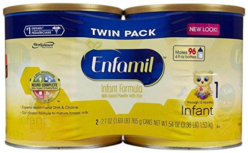 Enfamil Infant Baby Formula - Powder - 27 oz - 4 pk