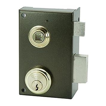 Ilargi - Cerradura 56b 70mm.he.dch.bp sobreponer c/cilindro. palanca con llave y picaporte con manilla desde el interior