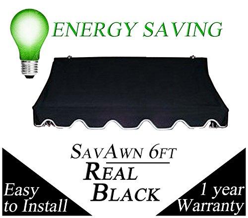 Black 6 Ft Savawn Awning Awnings Patio And Furniture