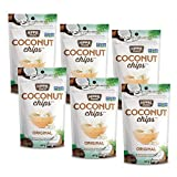 Hippie Snacks Non-GMO Crunchy Coconut Chips - Toasted Coconut Slices, 6 x 40 gram pack