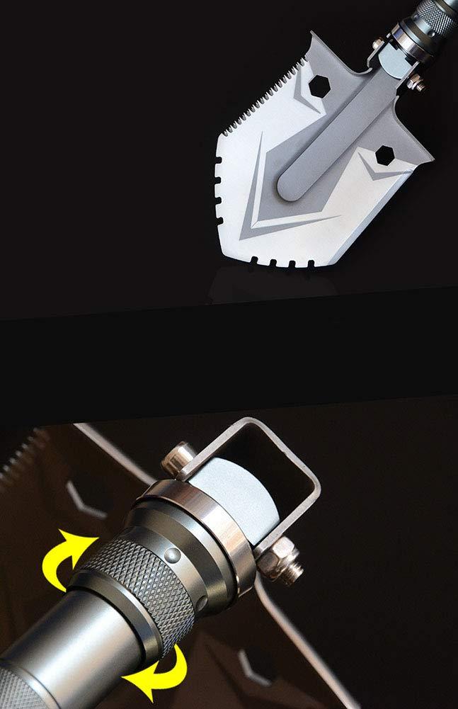 WangLx Folding shovels Pala Plegable Black Multifunci/ón Pala Supervivencia De Acero Inoxidable Pala para Cintur/ón Multi Tool para Exterior Camping Supervivencia