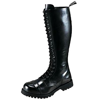 Boots & Braces - 20 Loch Stiefel Rangers Schwarz Größe 39 (UK5) Paquete de cuenta atrás de salida Liquidación Manchester Great Venta Venta Amazon vUrUtvkO