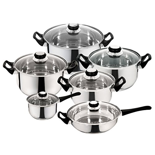 Priminute Monterrey Stainless Steel 12 pieces Cookware Set by Priminute