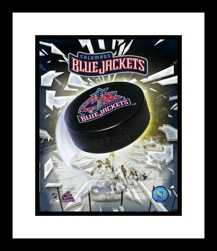 Columbus Blue Jackets Framed 8x10 Photo - Team Logo and Puck