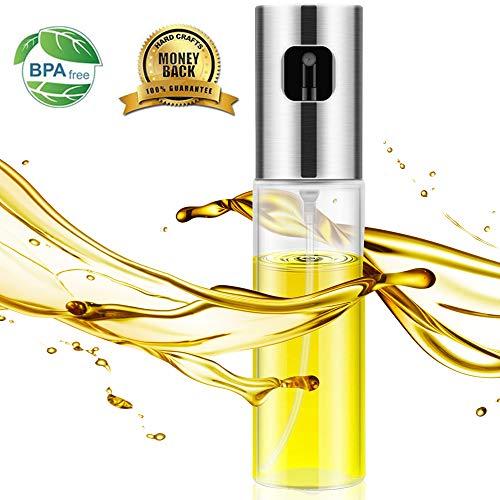 Oil Sprayer,Olive Oil Sprayer Mister with Scale,Versatile Glass Olive Oil Spryer for Cooking,Vinegar Bottle Glass,spray bottle for oil for BBQ/Cooking/BBQ/Salad/Baking/Roasting (Pump Vegetable Oil)