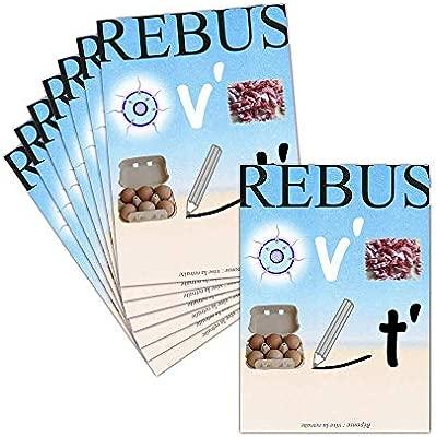 Tarjeta despedida en jubilación - 8 tarjetas - Tarjeta Rebus ...