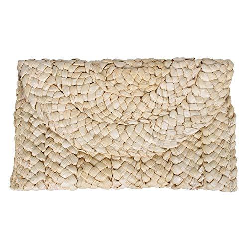 CHoppyWAVE Women's Straw Handbags Rattan Bags for Women,Retro Women Envelope Flap Clutch Purse Long Weave Wallet Summer Beach Straw Bag Khaki
