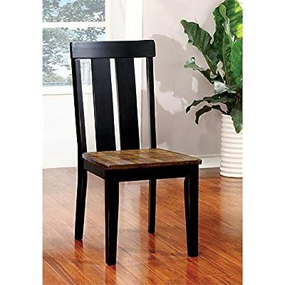 Furniture of America Venture Dining Chair in Antique Oak (Set of 2)