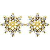 0.96 ct. Cubic Zirconia Spectacular Halo Earring Jackets in Yellow Plated Sterling Silver (0.96 ct. twt.)