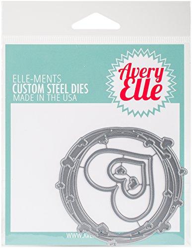 Avery Elle D-06-08 Elle-Ments Dies-Heart Frame