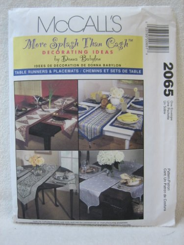McCall's 2065 Donna Babylon Tablerunner Placemat Pattern (Mccalls Placemat)