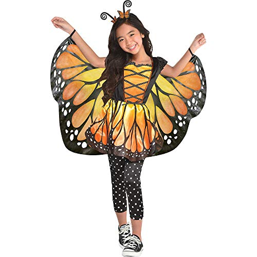 Suit Yourself Monarch Butterfly Halloween Costume for Girls, Medium, Includes Dress and Headband -