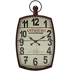 Deco 79 Metal Wall Clock, 19 by 33