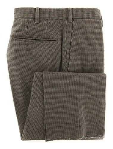 Incotex Dress Pants - Incotex Dark Brown Micro-Houndstooth Pants - Slim - 36/52