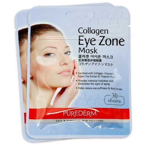 2 Pack 30 feuilles Purederm collagène Zone Eye Pad correctifs Masque Rides