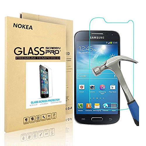 Samsung Galaxy S4 Mini Screen Protector, NOKEA [9H Hardness] [Crystal Clear] [Easy Bubble-Free Installation] [Scratch Resist] Tempered Glass Screen Protector for Galaxy S4 Mini (for S4 Mini) (Samsung S4 Mini Case 5sos compare prices)