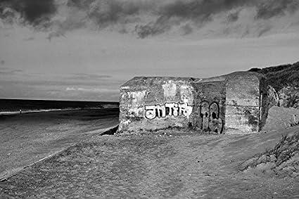 7abf1e275ffe Amazon.com: Home Comforts Canvas Print Bunker North Sea Coast ...