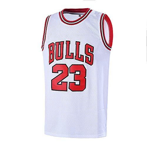 Ausimiar #23 Basketball Jersey,Legend Mens Retro Athletics Jersey S-XXXL (White, XX-Large) ()
