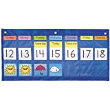 Carson Dellosa Weekly Calendar with Weather Pocket Chart (5636)