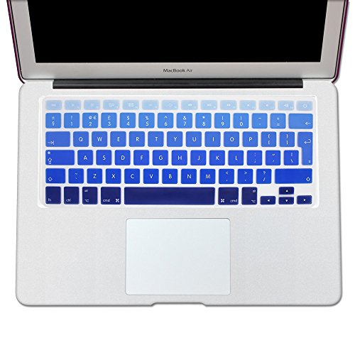 13 15 Keyboard Cover, Rainbow EU//UK Macbook keyboard covers-- English Letter Silicone Colorful Keyboard Cover Skin for MacBook Pro 13 15 17 with or without Retina Display and MacBook Air 13 European//ISO Keyboard Layout