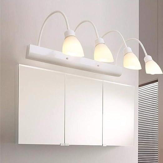 NEHARO Lámpara de Espejo 4-Light tocador de baño nórdica ...