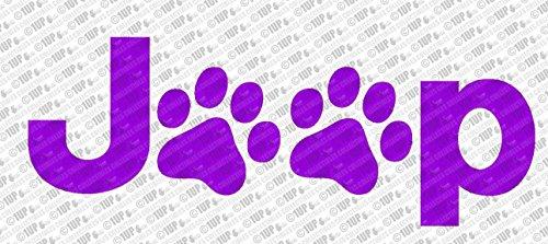Jeep Dog Paw Print Logo Die Cut Vinyl Decal (6