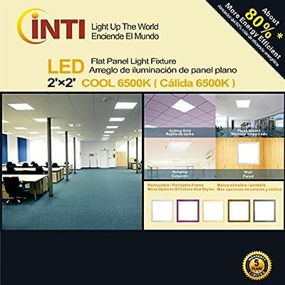2'x2' LED Flat Panel Light Fixture Cool White 6500k 60 Watt 110-277v