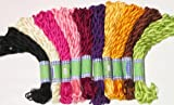 New ThreadNanny 100 Skeins of Art Silk Rayon Hand EmbroideryThreads - Assorted Colors