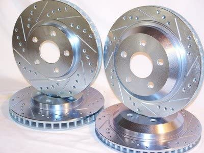 Pads 1998 1999 2000 2001 2002 Pontiac Firebird Trans Am Drilled Slotted Front Rear Brake Disc Rotors