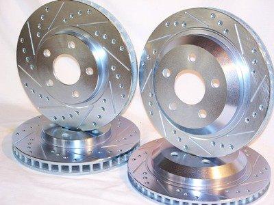 1998 1999 2000 2001 2002 Chevrolet Camaro Slotted Drilled Front + Rear Brake Disc Rotors +Pads - 1998 Chevrolet Camaro Brake