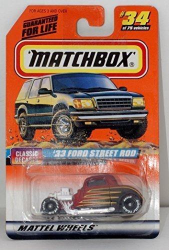 Matchbox 1997 Series 5 Classic Decades 1:58 33 Ford Street Rod #34 1:64 ()