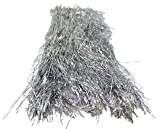Silver Tinsel for Christmas Tree - 18 Inches - 1000 Strands - icicles